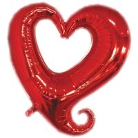 Сердце красное вензель