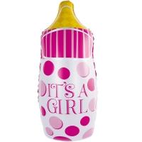 Бутылочка горох розовая