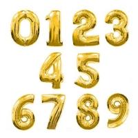 Цифры золотые
