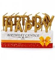 "Свечи-буквы ""Happy Birthday"" золото"