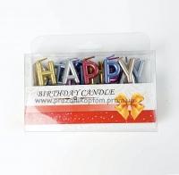"""Свечи-буквы """"Happy Birthday"""" разноцветные"""