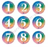 Цифры радуга 45см