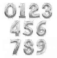 Цифры серебряные