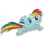 Пони радуга голубой