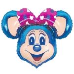 Супер мышка голубая